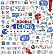 Doodled icons — Stock Vector