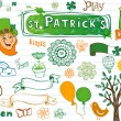 Doodles for st.Patrick's day — Stock Vector