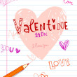 Doodles valentine background — Stock vektor