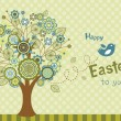 Happy Easter bird greeting card — 图库矢量图片