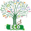 Ree with eco symbols — Stock Vector