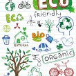 Eco friendly Doodles — Stock Vector