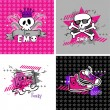 Emo vector banners — Stock Vector
