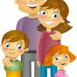 Happy family — Image vectorielle