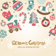 Christmas card — Vector de stock #32873091
