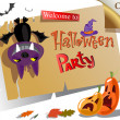 Halloween party Poster — Stock Vector