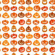 Stock Vector: Halloween seamless background