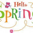 Hello Spring! Funky Background — Vettoriali Stock
