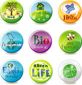 Eco badges — Stock Vector