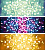 Defocused lights background set — Stock Vector