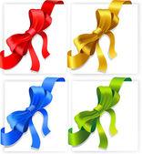 Arcos de vermelhos, dourados, azuis e verdes — Vetorial Stock