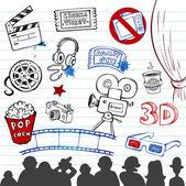 Cinema Doodles — Stock Vector