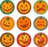 Bannières halloween ou sous-verre. — Vecteur