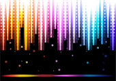 Glowing disco background — Stock Vector