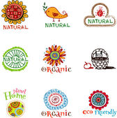 Eco labels — Stock Vector