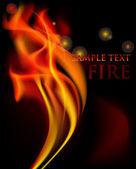 Fire illustration — Stock Vector