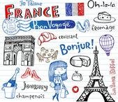 Symbols of France — Stock Vector