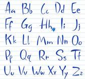 Doodle font, Hand written alphabet. — Stock Vector