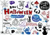 Halloween doodle set — Stock Vector