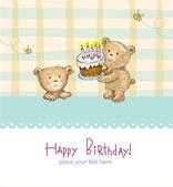 поздравления дня рождения вам! — Cтоковый вектор