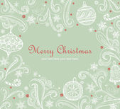 Vintage Christmas card — Stock Vector
