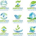 Eco Design Elements — Stock Vector