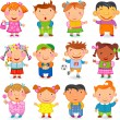 12 KIDS different nations. — Stock Vector