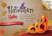 Bem-vindo ao cartaz de festa de halloween. — Vetor de Stock
