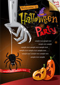 Halloween Poster. — Stock Vector