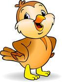 Cartoon Sparrow — Stock Vector