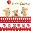 Cute bears, seasons greetings. — Image vectorielle