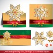Christmas Greeting Card with envelope and decor. — Vector de stock #34984459