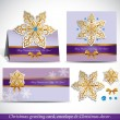 Christmas Greeting Card with envelope and decor. — Vector de stock  #34984465