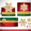 Christmas Greeting Card with envelope and decor.  — Imagen vectorial