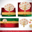 Christmas Greeting Card with envelope and decor. — Stock Vector #34984495
