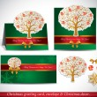Christmas Greeting Card with envelope and decor. — Stock Vector #34984497