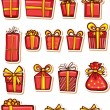 Set of nice gifts of red color.  — Stock Vector