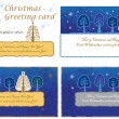 Set of Christmas greeting card.  — Stockvectorbeeld