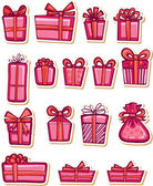 Set of nice gifts of pink color. Vector illustration. — Stock Vector
