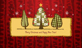 Scrapbook Christmas greeting card. — Stok Vektör