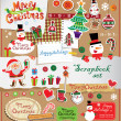 Stock Vector: Christmas decoration collection for scrapbook style.