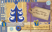 Scrapbook Christmas greeting card — Stock Vector