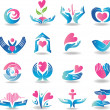 Health care cardiology icons — Stock Vector #39172159