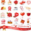Happy Valentines Day vector set — Stock vektor