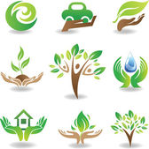 Eco Design Elements — Stock Vector