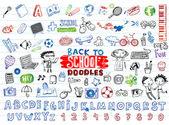School doodles — Stock Vector