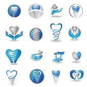Implantes dentários símbolo — Vetorial Stock