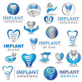 Dental implants symbol — Stock Vector