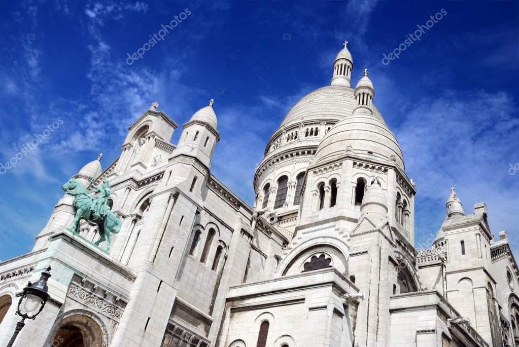 The basilica Sacre Coeur (&quot;Basilica of the Sacred Heart of Jesus&quot;) on Montmartre in Paris, France.  Stock Photo #13338435