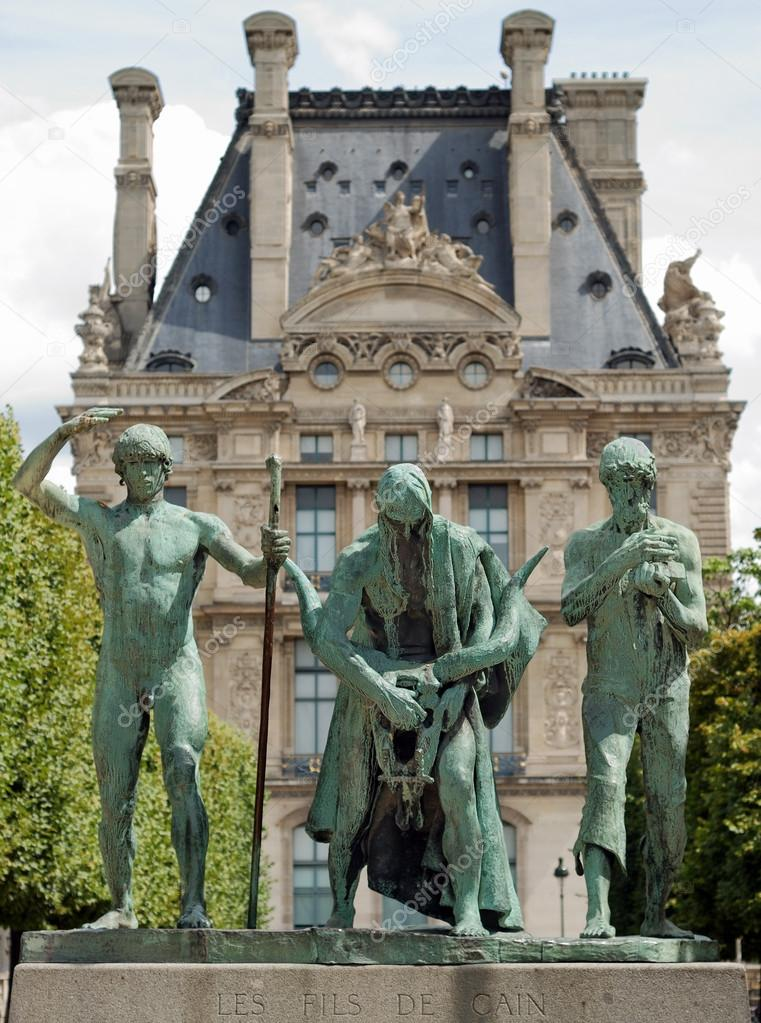 The Sons of Cain (Les fils de Cain) by Paul Landowski in Paris, France. Paul Maximilien Landowski was a Polish-French monument sculptor. His best-known work is the Christ the Redeemer statue in Rio de Janeiro, Brazil.  — Stock Photo #14631245
